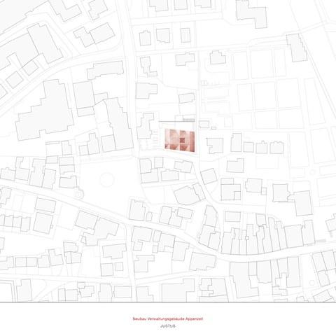 Situationsplan des neuen Verwaltungsgebäudes