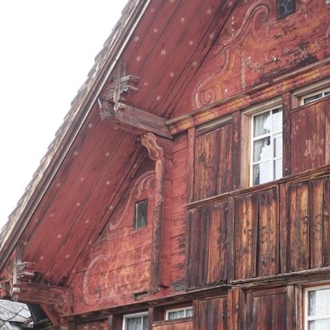 BIld 4 - Bemalung einer Fassade, Denkmalpflege Kanton Appenzell I.Rh., 2021.jpg. Vergrösserte Ansicht