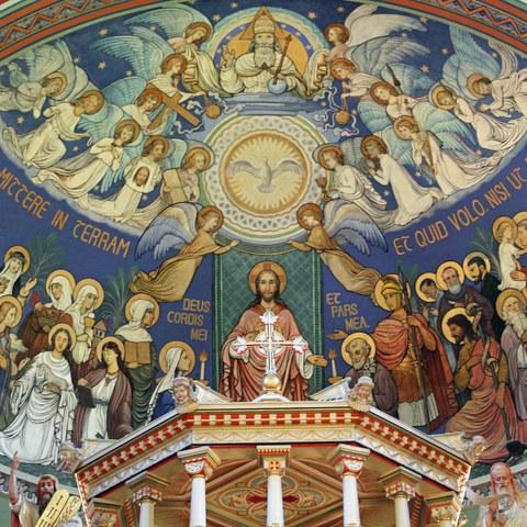 Kuppel der Kirche Maria Hilf in Haslen   Foto Sandro Blatter, 2013. Vergrösserte Ansicht