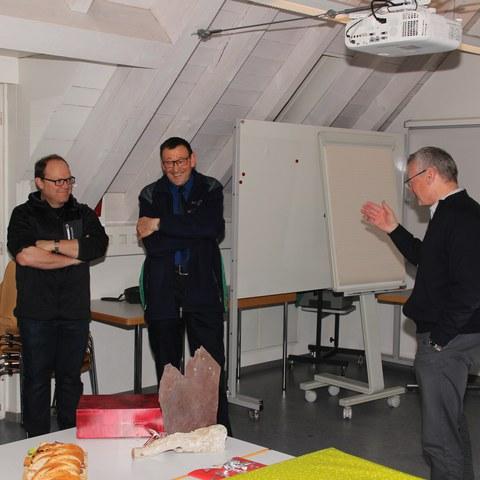 v. links: Rettungsobmann Raphy Müller, Wm Martin Ulmann, Adj Paul Broger und Kdt Andreas Künzle. Vergrösserte Ansicht